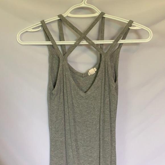 Grey tight mini dress